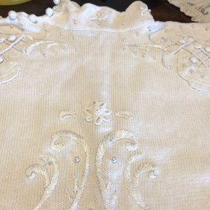 Pretty sweater pearl embroidered hand work